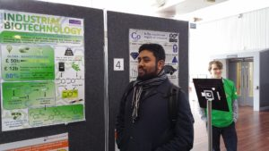 Syed Ahmed: first place poster presentation in Industrial Biotechnology