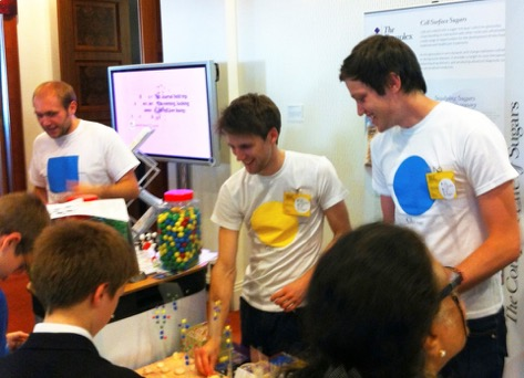 Glycan array model making at The Royal Society Summer Science Exhibition