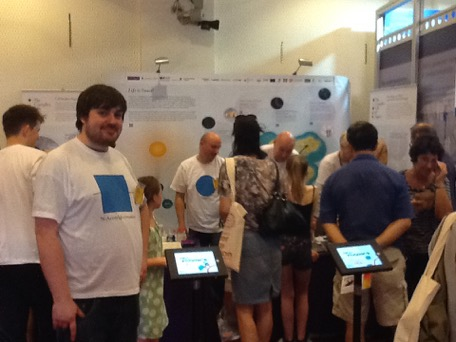 Cell Invaders game on the iPads at The Royal Society Summer Science Exhibition