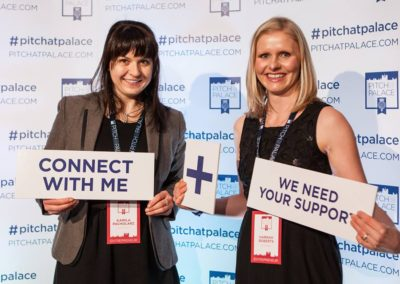 flitschlab_pictures Dr Hannah Roberts and Dr Kamila Pacholarz represent spin-out company Bio-shape Ltd. at Pitch at the Palace 7th March 2017